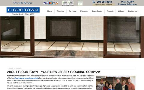 Screenshot of About Page floor-town.com - About Your New Jersey Flooring Company | Floor Town` - captured June 5, 2017