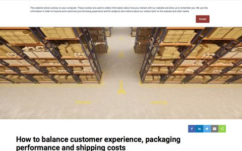 Screenshot of Pricing Page pregis.com - How to balance customer experience, packaging performance and shipping costs - captured Nov. 5, 2019
