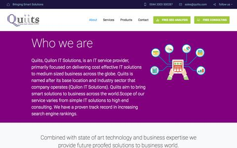 Screenshot of About Page quiits.com - Quiits - IT Company in Norwich | Consulting, Website & App development - captured March 29, 2016