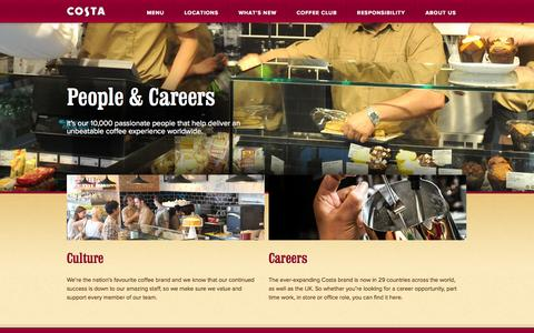 Screenshot of Team Page costa.co.uk - Our People - Costa Coffee - captured Nov. 4, 2014