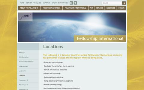 Screenshot of Locations Page fellowship.ca - Fellowship.ca - Locations - captured Oct. 5, 2014