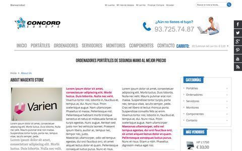 Screenshot of About Page tuportatilsegundamano.com - About Us - captured Oct. 2, 2014