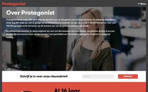 Screenshot of Team Page protagonist.nl - Over Protagonist · Protagonist - captured Sept. 30, 2018