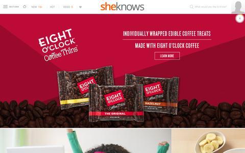 Screenshot of Home Page sheknows.com - SheKnows | Entertainment, Recipes, Parenting & Love Advice - captured Sept. 30, 2015