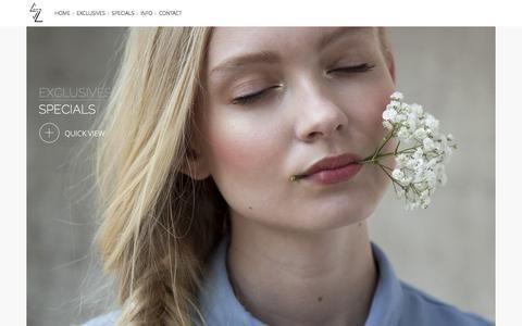 Screenshot of Home Page szanne.com - szanne - captured Jan. 12, 2016