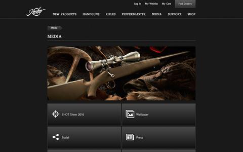Screenshot of Press Page kimberamerica.com - Kimber America   Media - captured Sept. 23, 2016