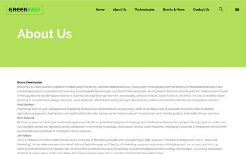 Screenshot of About Page greenwaytechnologies.com - About Us – Greenway Technologies - captured Nov. 16, 2016