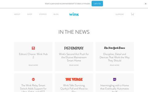 Screenshot of Press Page wink.com - Wink   Press - captured Feb. 3, 2017