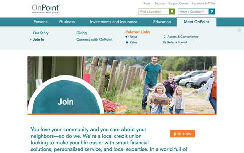 Screenshot of Signup Page onpointcu.com - Join In - Oregon & WA - OnPoint Community Credit Union - captured June 28, 2017