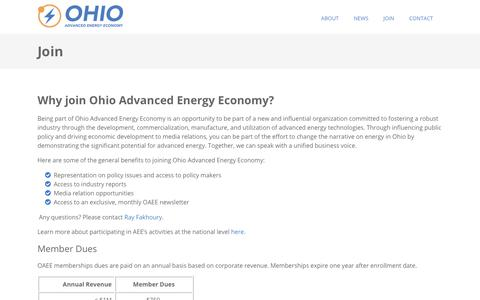 Screenshot of Signup Page ohioadvancedenergy.org - Ohio Advanced Energy Economy: Join - captured Nov. 14, 2017