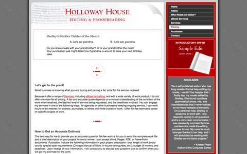 Screenshot of Pricing Page hollowayhouse.me - Holloway House - Pricing - captured Sept. 30, 2014