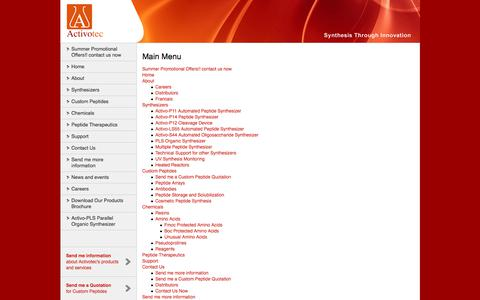 Screenshot of Site Map Page activotec.com - Activotec - captured Oct. 7, 2017