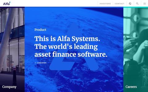 Screenshot of Home Page alfasystems.com - Alfa - captured July 7, 2018
