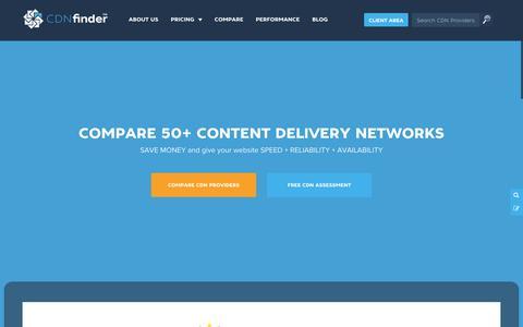 Screenshot of Home Page cdnfinder.com - CDN Finder | Content Delivery Network | CDN Services | CDN Performance - captured Jan. 21, 2015