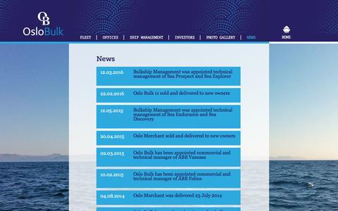 Screenshot of Press Page oslobulk.com - Oslo Bulk - A leading global MPP shipping company - captured June 14, 2017