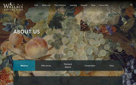 Screenshot of About Page wallacecollection.org - About us                                                - The Wallace Collection - captured Oct. 18, 2018