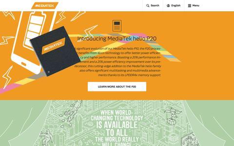 Screenshot of Home Page mediatek.com - MediaTek Inc. - MediaTek - captured Feb. 22, 2016