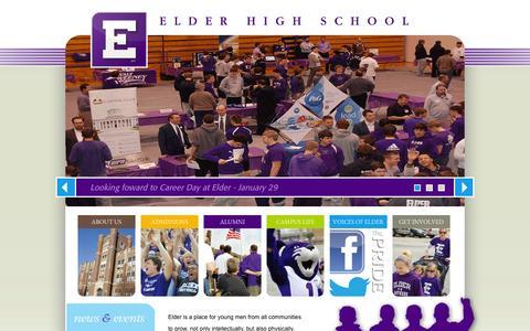 Screenshot of Home Page elderhs.org - Elder High School > Home - captured Jan. 27, 2016