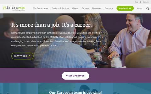 Screenshot of Jobs Page demandware.com - Demandware Careers - Cloud eCommerce Jobs | Demandware - captured Jan. 6, 2016