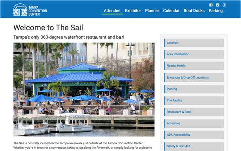 Screenshot of Menu Page tampagov.net - Welcome to The Sail | City of Tampa - captured Oct. 14, 2018