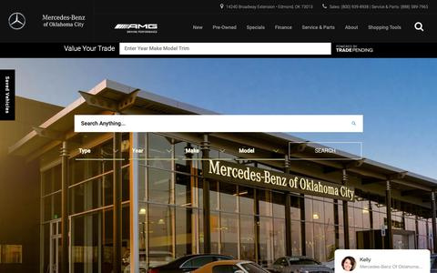 Screenshot of Home Page mercedesbenzofokc.com - Mercedes-Benz of Oklahoma City | Mercedes-Benz Dealer in Edmond, OK - captured Nov. 15, 2018