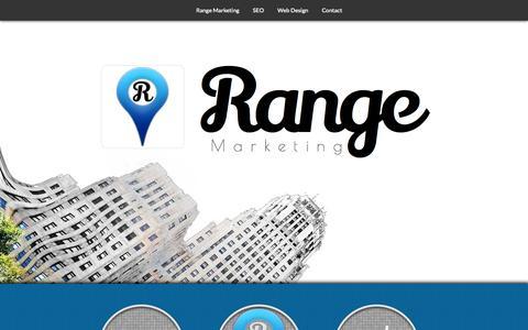 Screenshot of Home Page rangemarketing.com - Range Marketing | Buffalo NY | Web Design, SEO & Internet Marketing - captured Sept. 30, 2014