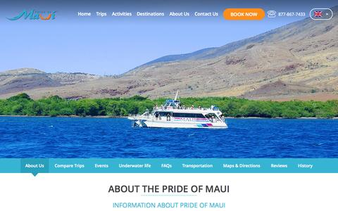 Screenshot of About Page prideofmaui.com - About Us - captured July 24, 2015
