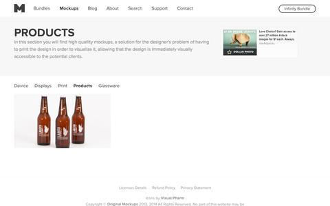 Screenshot of Products Page originalmockups.com - Original Mockups - Products - captured Nov. 1, 2014