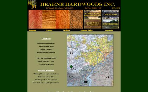 """Screenshot of Maps & Directions Page hearnehardwoods.com - Hearne Hardwoods with over 140 species of domestic and exotic hardwoods in stock, is one of the largest specialty lumber yards in the world. We are a retailer of exotic wood up to 84"""" inches wide, figured wood, hardwood flooring and millwork services - captured Nov. 2, 2014"""