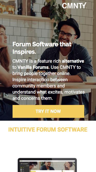 Vanilla Forums Alternative that Inspires Interaction