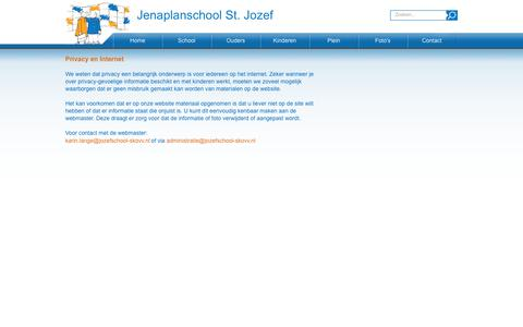 Screenshot of Privacy Page jozefschool-skovv.nl - St. Jozef > Contact > Privacy - captured May 28, 2016