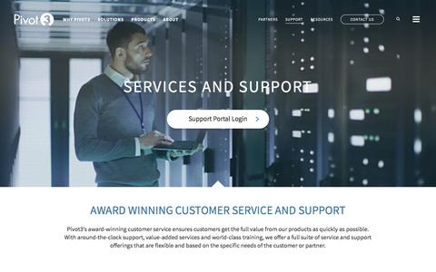 Screenshot of Support Page pivot3.com - Pivot3   Support - captured July 13, 2018