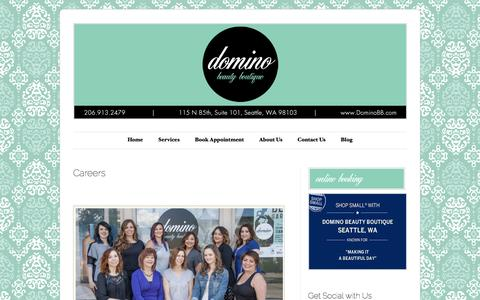 Screenshot of Jobs Page dominobb.com - Careers | DominoBB - captured Sept. 30, 2016