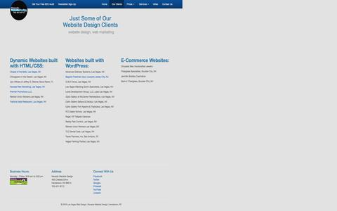 Website Design Clients | Nevada Website Design Las Vegas NV | SEO