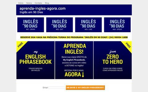 Screenshot of Home Page aprenda-ingles-agora.com - Aprenda Inglês Agora - Para Você Aprender Inglês Grátis! - captured March 14, 2016