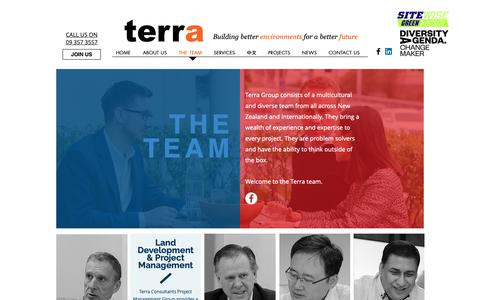Screenshot of Team Page terragroup.co.nz - The Team I NZ Based I Terra Consultants - captured May 29, 2019