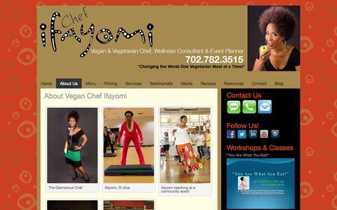 Screenshot of About Page ifayomi.com - About Vegan Chef Ifayomi - Ifayomi - captured Oct. 6, 2014