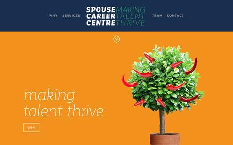 Screenshot of Home Page spousecareercentre.com - Spouse Career Centre | Making Talent Thrive - captured June 15, 2017