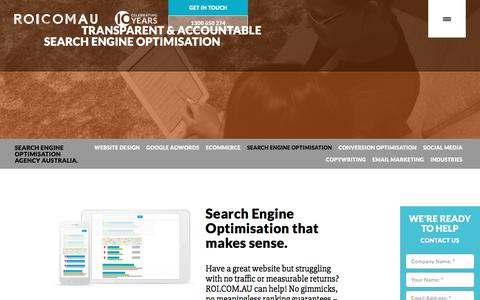 Search Engine Optimisation | Australian SEO | ROI.COM.AU