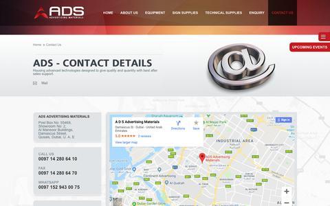 Screenshot of Contact Page ads-adv.com - Ads - captured Oct. 21, 2018