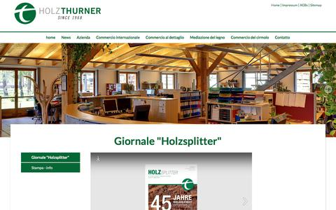 """Screenshot of Press Page thu.at - www.thu.at - Giornale """"Holzsplitter"""" - captured Sept. 24, 2018"""