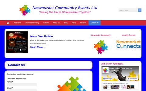 Screenshot of Contact Page newmarketcommunity.co.uk - Contact Us - Newmarket Community Events Ltd - captured Feb. 24, 2016