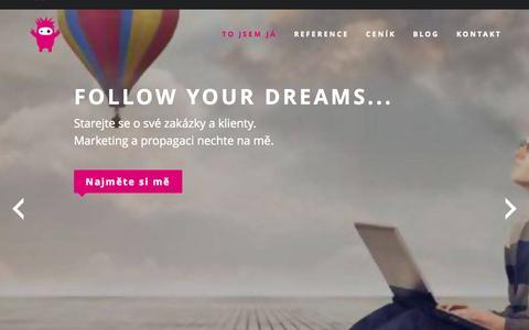 Screenshot of Home Page hryzalek.cz - Hryzalek.cz | Rock your business! - captured Sept. 11, 2015