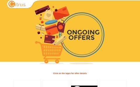 Screenshot of citruspay.com - Offers - Citrus Pay & Mobile Wallet - captured April 29, 2016