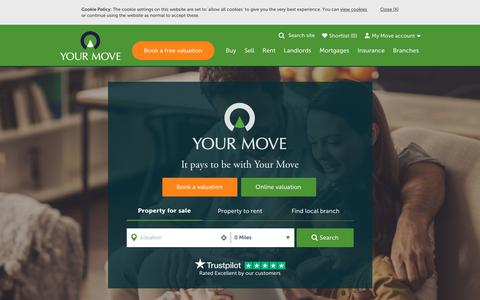 Screenshot of Home Page your-move.co.uk - Your Move: Estate Agents and Letting Agents in the UK - captured Aug. 18, 2019