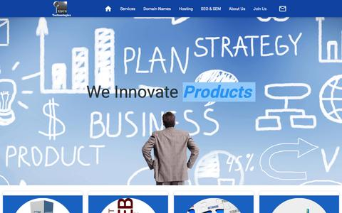 Screenshot of Home Page industechnologies.co - Indus Technologies   Innovative Solutions   Domain Names   Hosting Servers   VPS   Search Engine Optimization   Graphics Designing   Web Designing - captured Jan. 8, 2016