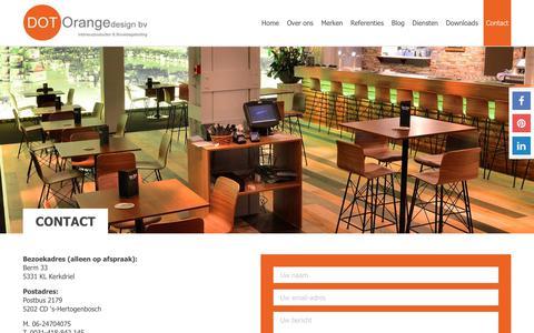Screenshot of Contact Page dotorangedesign.com - Contact - DOT Orange design - captured Oct. 11, 2017