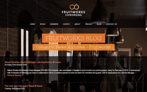 Screenshot of Press Page fruitworks.co - News Archives | Fruitworks - captured Nov. 3, 2014