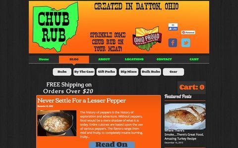 Screenshot of Blog eatchub.com - Chub Rub Dry Rubs, Spices, and All Purpose Seasonings | BLOG - captured Nov. 5, 2016