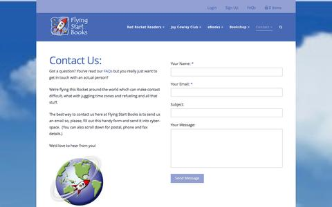 Screenshot of Contact Page flyingstartbooks.com - Contact - Flying Start Books - captured Nov. 3, 2014